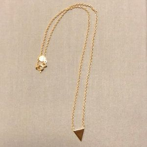 Gorjana 18K Gold Mika Triangle Pendant Necklace